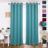 EDILLY Blackout Curtains Drapery Panels - Window Treatment Sets Blackout Curtain/Panels for Bedroom/Living Room Window/Kitchen (2 Panels, W52xL95 inch Length, Turquoise)