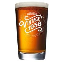 1958 62nd Birthday Gifts for Men and Women Beer Glass - 16 oz Funny Vintage 62 Year Old Pint Glasses for Party Decorations - Anniversary Gift Ideas for Dad, Mom, Husband, Wife - Best Craft Beers Mug