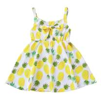 SEVEN YOUNG Toddler Baby Girl Summer Dresses Clothes Pineapple Sleeveless Princess Party Dress Sundress
