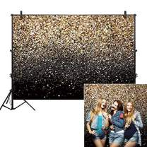 Allenjoy 8x6ft Gold Glitter Paint Backdrop for Photography Astract Golden Bokeh Spot Starry Sky Wedding Adult Baby Children Family New Year Party Decor Portrait Shooting Photo Studio Booth