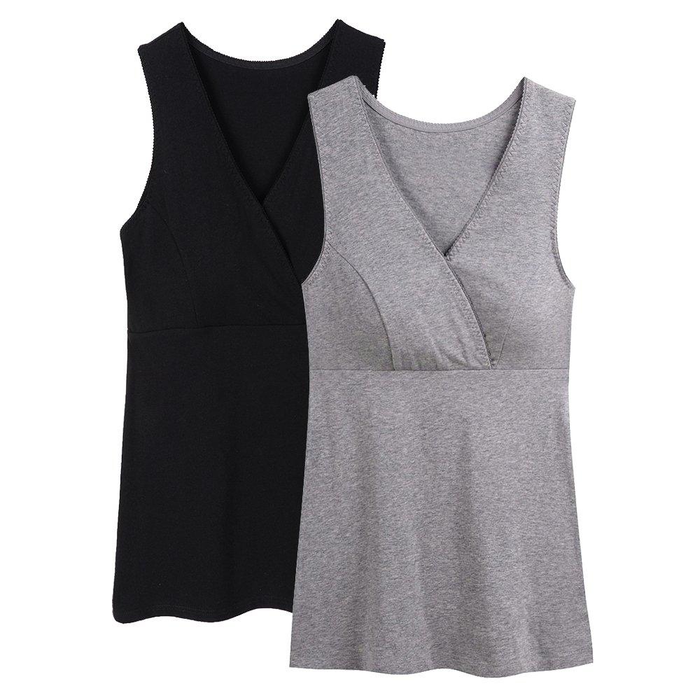 Topwhere Maternity Nursing Top, Women Basic Vest Sleep Tank Top