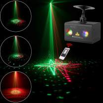 Laser Projector SUNY 20 Red Green Gobos Indoor Sound Activated DJ Laser Light Machine Galaxy Colorful Wave RGB LED Mini Projector Party Light Bedroom Christmas Holiday Decor Disco Dance Event Show