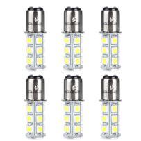 HOTSYSTEM 1157 LED Light Bulbs DC12V BAY15D P21/5W 18-5050SMD for Car RV SUV Camper Trailer Trunk Interior Reversing Backup Tail Turn signal Corner Parking Side Marker Lights(Warm White,Pack of 6)