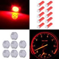 cciyu Stepper Motors X27.168 Instrument Repair Speedometer Gauge Cluster W T5 Wedge Bulbs (7 Pack Stepper Motor with 9Pack Red T5 LED Bulb)