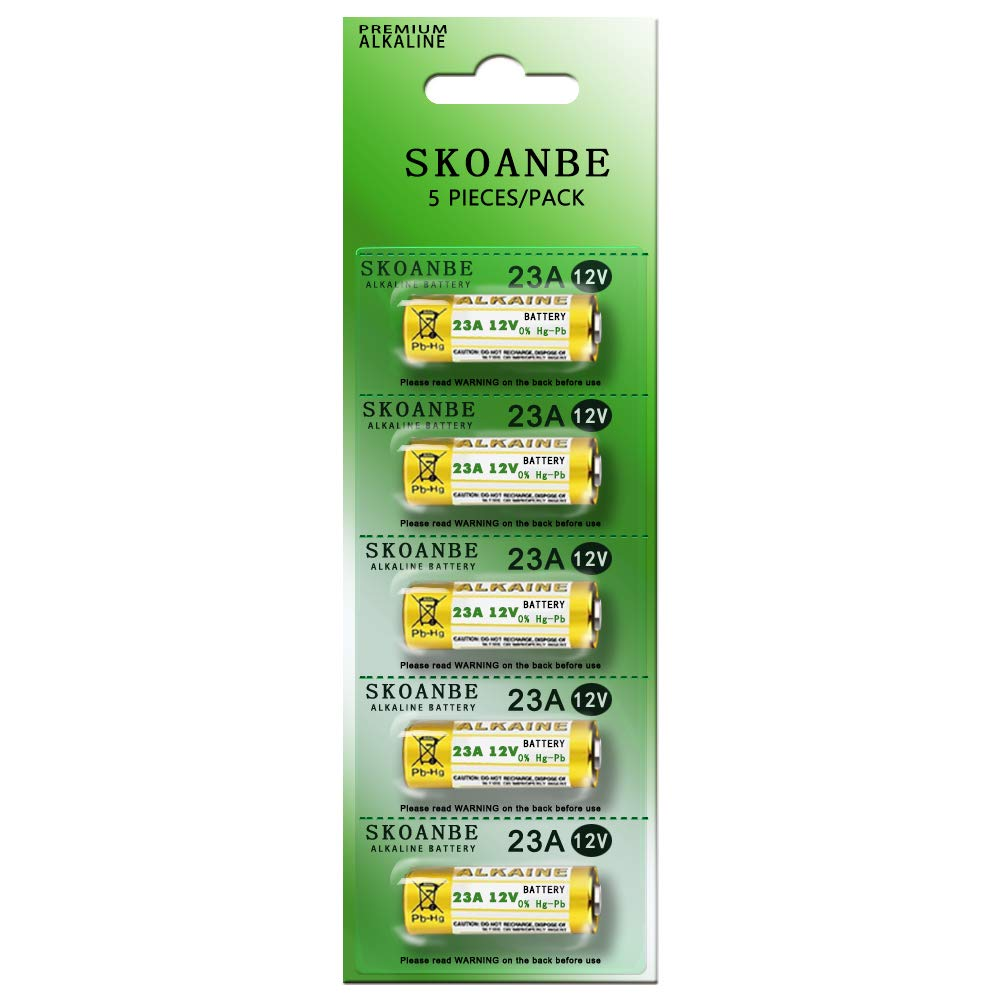 SKOANBE 23A 12V Alkaline Battery-Pack of 5