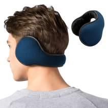 Ear Warmers Winter Foldable Fleece Warm Outdoor Earmuffs Unisex Adjustable Ear Muffs for Men Women