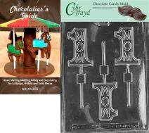 Cybrtrayd Bk-D065 No.1 Mom Lolly Dads and Moms Chocolate Candy Mold with Chocolatier's Guide Instructions Book Manual
