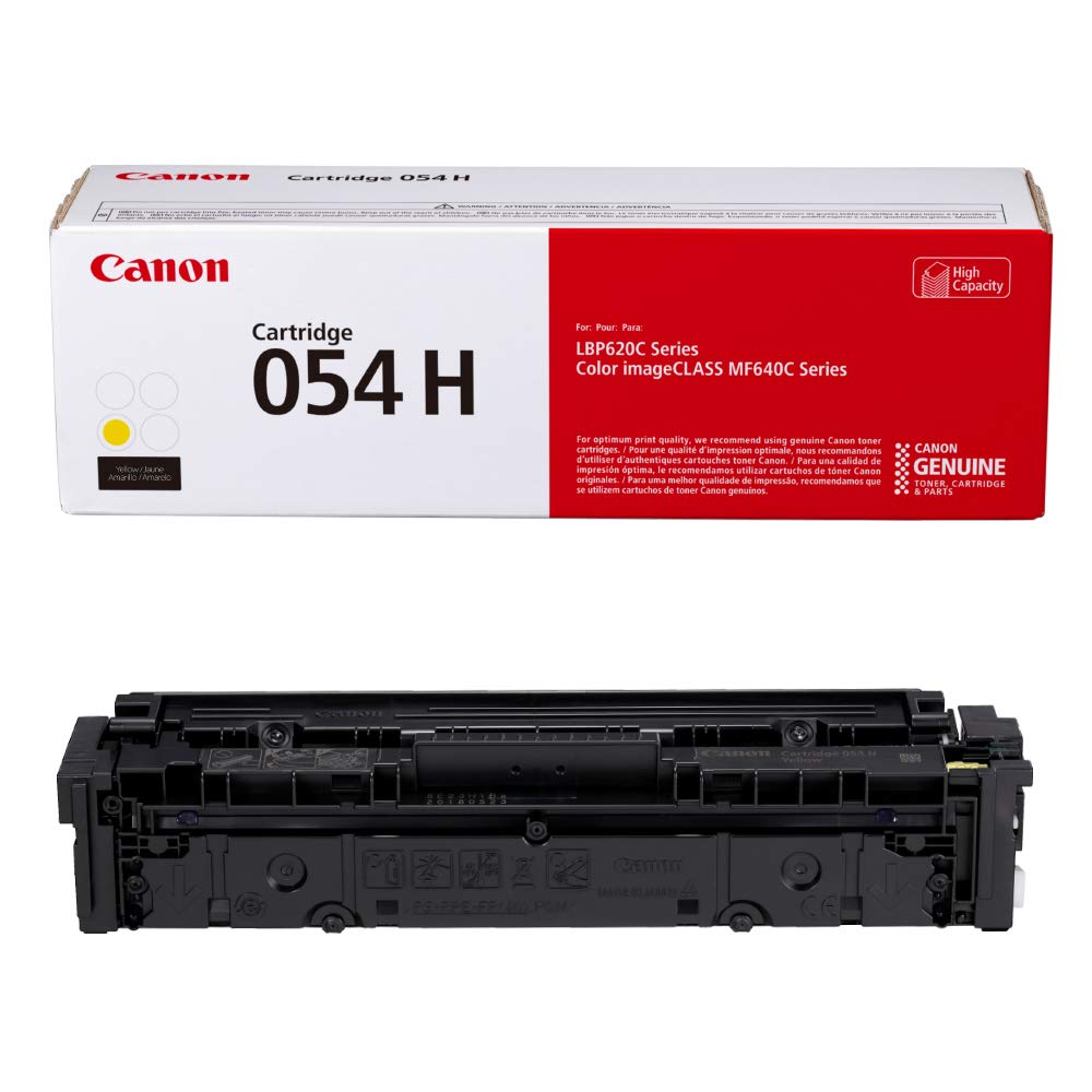 Canon Genuine Toner, Cartridge 054 Yellow, High Capacity (3025C001) 1 Pack, for Canon Color imageCLASS MF641Cdw, MF642Cdw, MF644Cdw, LBP622Cdw Laser Printers