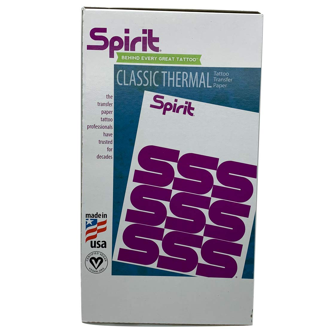 Tattoo Transfer Drawing Paper Spirit Master Reprofx Brand Stencil Transfer Dito Purple Carbon 10-Sheets Size 8.5 X 14 inches