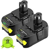 2Pack 6.0Ah P108 Replacement Battery for Ryobi One+, 18V Li-ion Battery for Ryobi One+ P104 P105 P102 P103 P107