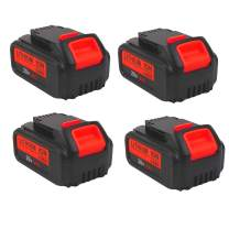 4000mAh 20V DCB204 Battery Replacement for Dewalt 20-Volt MAX XR Batteries DCB205 DCB200 DCB203 DCB206 DCB204BT-2 DCB201 20Volt Lithium Dewalt Battery, 4-Pack