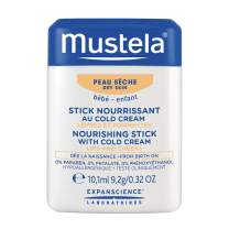 Mustela Nourishing Stick with Cold Cream, Baby Lip and Face Moisturizer, with Natural Avocado Perseose and Ceramides, 0.32 Ounce