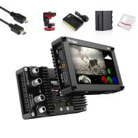 Portkeys BM5 HDMI-SDI 5 InchTouch Screen Monitor 2200 Nits Brightness, Support 3D Luts Loading, Built-in Camera Control Module, w/Cold Shoe Mount, Battery Kit, USB 3.0 Cable for Controlling Canon DSLR