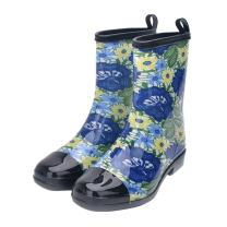 Women Half Calf Rubber Rainboots Floral Printed Waterproof Rubber for Garden Women rain Footwear…