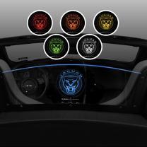 Windrestrictor Wind Deflector for Jaguar F-Type Convertible | 2013-2018 | Wind Block for Convertibles | Controls Backdraft Air Flow| Laser Etched Special Jaguar Design |Blue LED Illumination