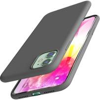 TOZO for iPhone 11 Case 6.1 Inch (2019) Liquid Silicone Gel Rubber Shockproof Shell Ultra-Thin [Slim Fit] Soft 4 Side Full Protection Cover for iPhone 11 with [Gray]