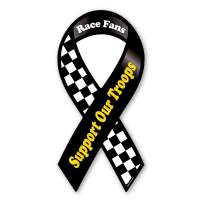 Race Fans Support Our Troops Ribbon Magnet