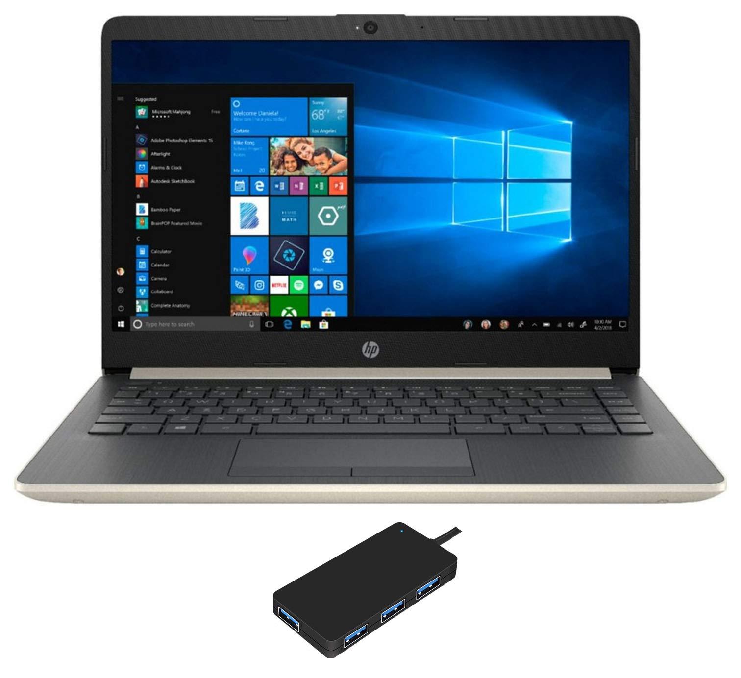 "HP 14-CF0006DX Home Office Laptop (Intel i3-7100U 2-Core, 4GB RAM, 128GB m.2 SATA SSD, 14"" HD (1366x768), Intel HD 620, WiFi, Bluetooth, Webcam, 2xUSB 3.1, 1xHDMI, SD Card, Win 10 Pro (S-Mode))"