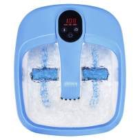 Giantex Foot Spa Bath Massager with Automatic Massage Rollers, Digital Adjustable Temperature Control, Fast Heating Large Bubbles, Electric Feet Salon Tub for Foot Stress Relief