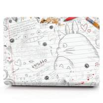 "HRH Drawing Totoro Laptop Body Shell Protective PC Hard Case for MacBook Air 13.3"" (A1466 / A1369),Not Compatible 2018 Version A1932"