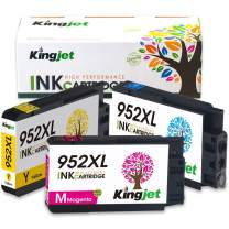 Kingjet Compatible Replacements for 952, 952XL Ink Cartridge Work with Officejet Pro 7740 8210 8216 8702 8710 8715 8720 8725 8730 8740 Printers, 3 Pack(1Cyan 1Magenta 1Yellow) with Newest Updated Chip