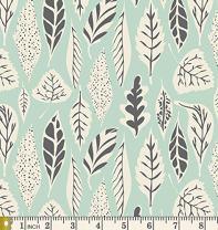 Leaflet Eucalyptus - Hello Bear - Bonnie Christine - Art Gallery Fabric - HBR-4435 - Leaves Forest Bear Outdoors Nature Trees (Half Yard)