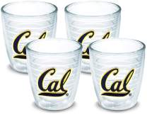 Tervis 1042554 Cal Bears Logo Tumbler with Emblem 4 Pack 12oz, Clear