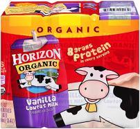 Horizon Organic, Low Fat Organic Milk Box, Vanilla, 8 Ounce (Pack of 6)