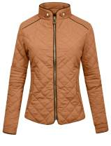 J.LOVNY Womens Lightweight Quilted Warm Zip Jacket [S-3XL]