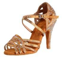 SWDZM Women's Dance Shoes Latin Salsa Performance Ballroom Dance Shoes Model-YCD6