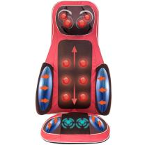 Real Relax Massage Seat Cushion, Back Massager Neck and Full Body with Heat for Car Chair Home Office(Red)