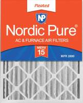 Nordic Pure 16x20x4 MERV 15 Pleated AC Furnace Air Filters 2 Pack