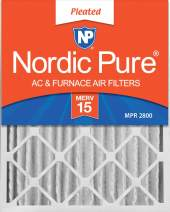 Nordic Pure 20x24x4 MERV 15 Pleated AC Furnace Air Filters 6 Pack
