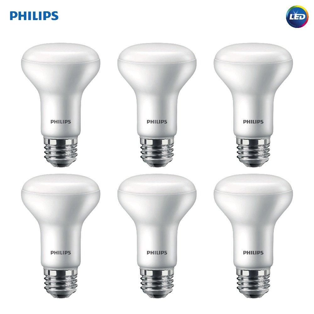Philips LED Dimmable R20 Soft White Light Bulb with Warm Glow Effect 450-Lumen, 2700-2200-Kelvin, 6-Watt (45-Watt Equivalent), E26 Base, Frosted, 6-Pack
