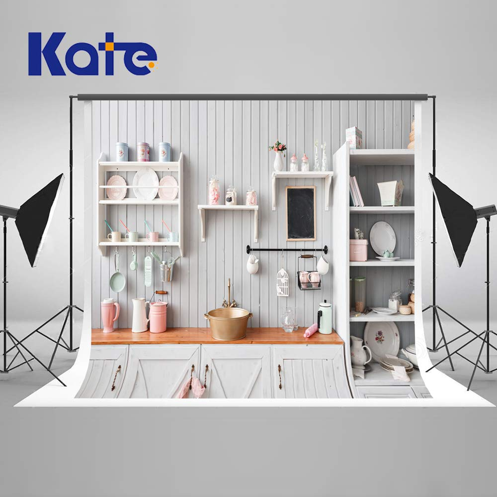 Kate 10×10ft Kitchen Backdrops for Photoshoot Wood Panel Kitchen Photo Backdrops Dining Room Interior Backdrop Decoration Photography Props