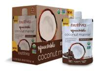 Nutiva Organic Coconut Manna, Chocolate, Squeezable 6.2-ounce Pouch (Pack of 6)