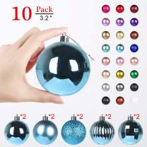 GameXcel Christmas Balls Ornaments for Xmas Tree - Shatterproof Christmas Tree Decorations Large Hanging Ball Sky Blue3.2 x 10 Pack