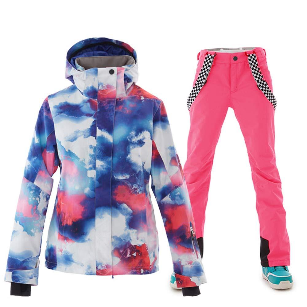 Women's Ski Jackets and Pants Set Windproof Waterproof Snowsuit