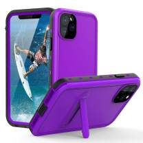 "iPhone 11 Pro Max Waterproof Case,Full Body with Built-in Screen Protector,Heavy Duty Protection Shockproof Case for iPhone 11 Pro Max (6.5"",2019) (SS-Purple)"