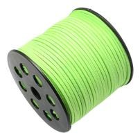 Pandahall 90m/295feet/98yard/roll 3x1.4mm Faux Suede Cord Roll String Leather Lace Beading Thread Suede Lace Lether Cording for Jewelry Makings LawnGreen