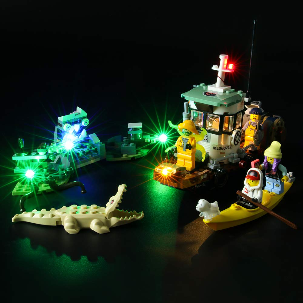 BRIKSMAX Led Lighting Kit for Wrecked Shrimp Boat - Compatible with Lego 70419 Building Blocks Model- Not Include The Lego Set
