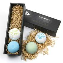 Bath Bombs for Men ,Upgraded Men's Bath Bombs with Fresh Peppermint and Cologne Fragrance, No Bathtub Stains, Bath Fizzers with Bath Epsom Salt, Great Gifts for Him for Husband,Father,Boy Friend