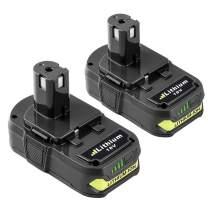 Topbatt Replace for Ryobi 18V 3.0Ah Battery Lithium ion ONE+ Plus P102 P103 P104 P105 P107 P108 P109 P122 Cordless Power Tools 2-Pack