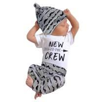 Newborn Baby Boy Clothes Hipster Bowtie Strap Short Sleeve Bodysuit +Moustache Pants+Hat 3Pcs Outfits Set