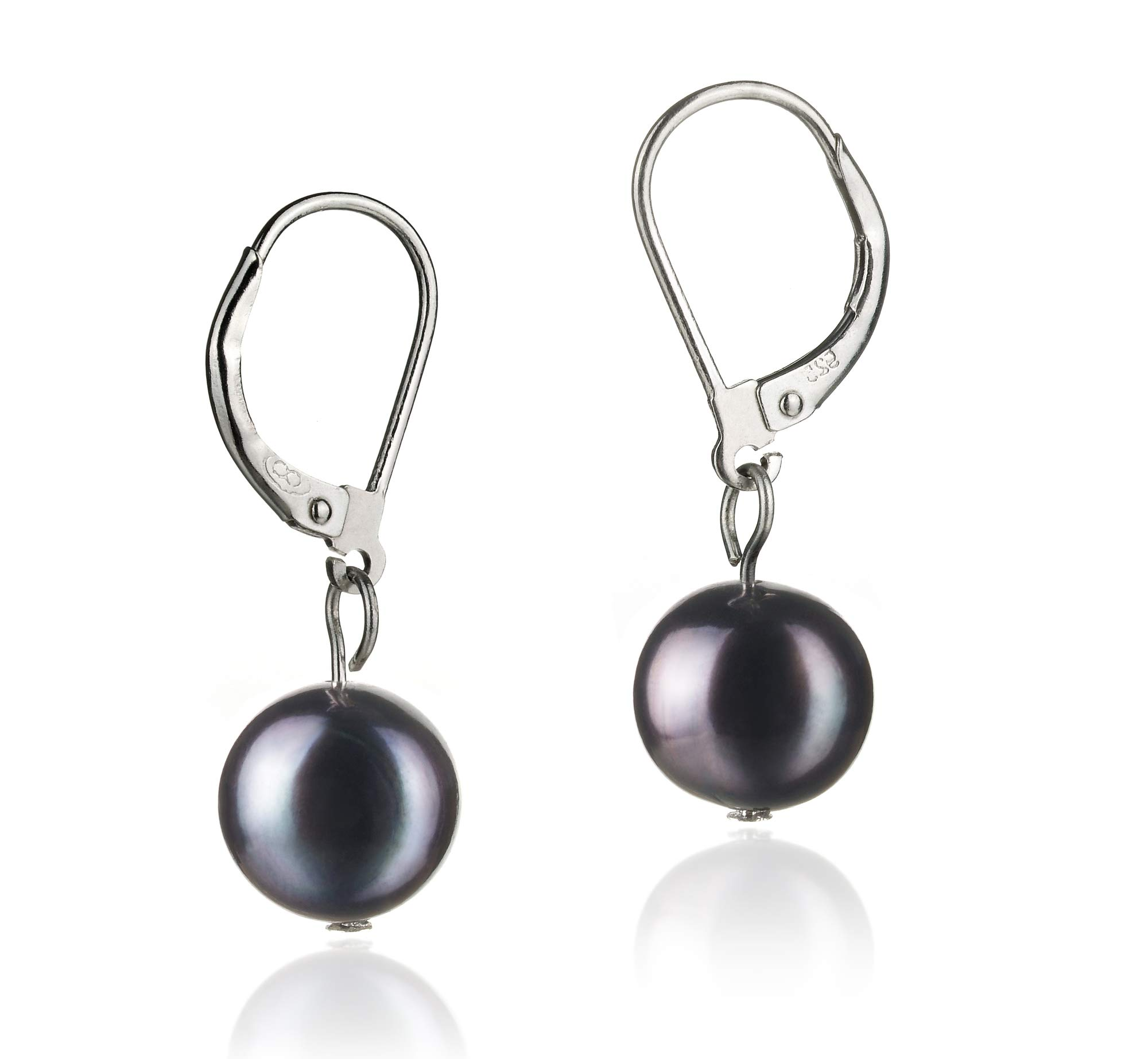 Kaitlyn 8-9mm A Quality Freshwater 925 Sterling Silver Cultured Pearl Earring Pair For Women