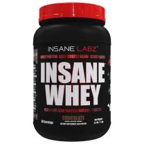 Insane Labz Insane Whey,100% Muscle Building Whey Protein, Natural Flavors,Pre or Post Workout, BCAA Amino Profile, Mass Gainer, Meal Replacement,2 lbs, Chocolate