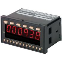 """Shimpo DT-5TS-DC Digital Panel Mount Tachometer, 9-35 VDC Power Supply, 6 Digit 0.59"""" LED Display, -0.008% +/-1 Digit Accuracy, 3.62"""" Length x 3.78"""" Width x 1.89"""" Height"""