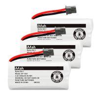 iMah BT-1021 2.4V 300mAh Cordless Phone Battery Compatible with Uniden BT-1016 BT-1025 BT-1008 DCX160 DCX170 DCX200 DWX207 DCX210 DCX291 DCX309 DCX350 Handset, Pack of 3