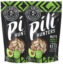 The Original Wild Sprouted Pili Nuts by Pili Hunters - Traditional Fried Pili Nuts, A Keto Snacks with Avocado Oil for Low Carb Energy, Gluten Free Superfood AS SEEN ON SHARK TANK (1.85 oz Bags, 2pk)