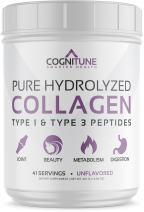 Pure Hydrolyzed Collagen Protein Powder - Type 1 & 3 Peptides Unflavored - Premium Grass Fed, Keto Diet & Paleo Friendly Nutrition, Non-GMO, Gluten Free - Supports Hair, Skin & Anti-Aging – 15.9 oz
